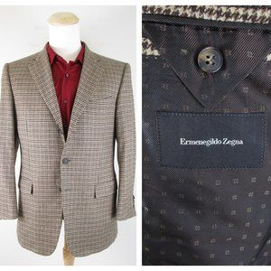 Ermenegildo Zegna Brown Silk Cashmere Sport Coat